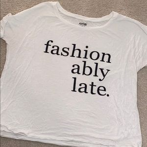 """""""fashionably late"""" crop top!"""
